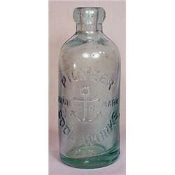C. 1890S PIONEER HUTCHINSON SODA WORKS GLASS BOTTL