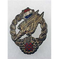 WW2 GERMAN NAZI CROATION ARMY PARATROOPER ENAMEL J