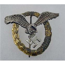 WW2 GERMAN NAZI LUFTWAFFE PILOT OBSERVER BADGE - M
