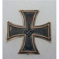 RARE WW2 GERMAN 1ST CLASS SCHINKLE IRON CROSS W/ I