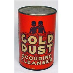 EARLY BLACK AMERICANA GOLD DUST ADVERTISING CONTAI