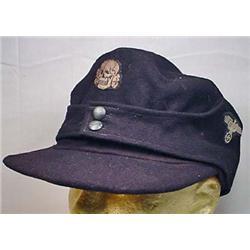 WW2 GERMAN NAZI SS PANZER EM M-43 CAP - FOR AN ENL