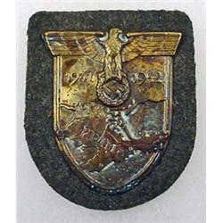 1941-42 WW2 GERMAN NAZI ARMY KRIM SLEEVE SHIELD W/