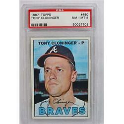 1967 TOPPS TONY CLONINGER NO. 490 BASEBALL CARD -