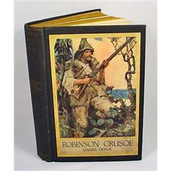 1900  ROBINSON CRUSOE  HARDCOVER BOOK - By Daniel
