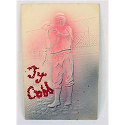 1909 EMBOSSED TY COBB POSTCARD