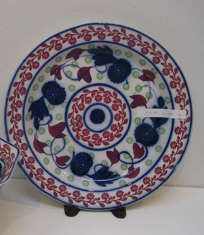 Official Website Adams Tunstall Large Plate Pottery, Porcelain & Glass