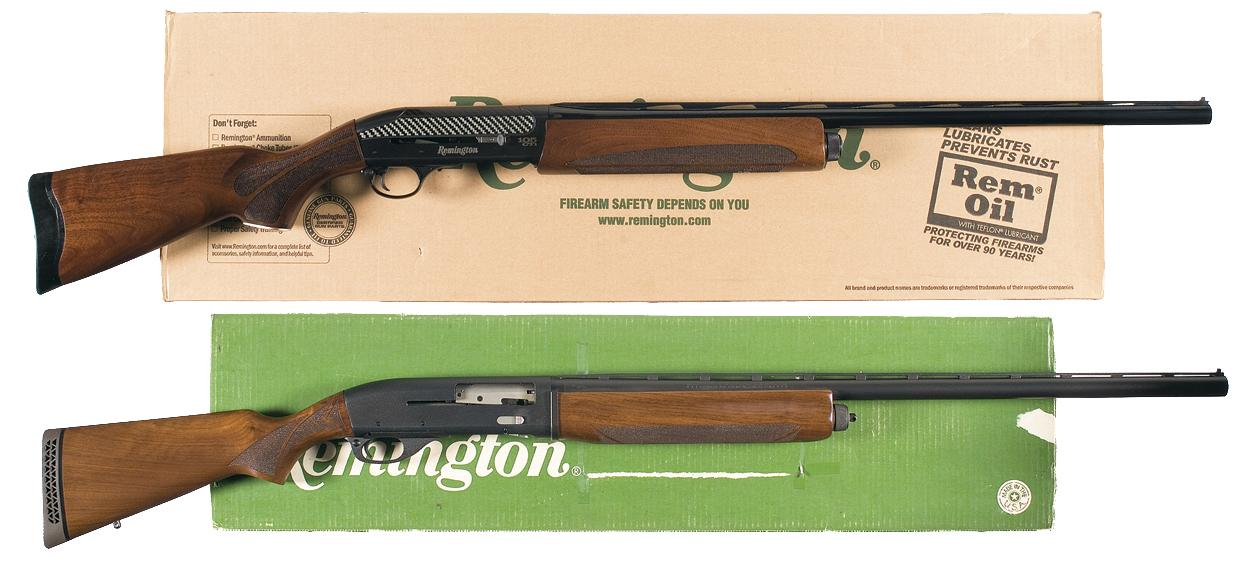 Two Remington Semi-Auto Shotguns A) Remington Model 105 CTI Semi-Auto  Shotgun with Case and Box