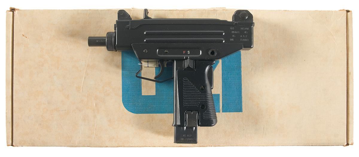 Scarce Imi Mini Uzi Model 45 Semi Automatic Pistol With Box