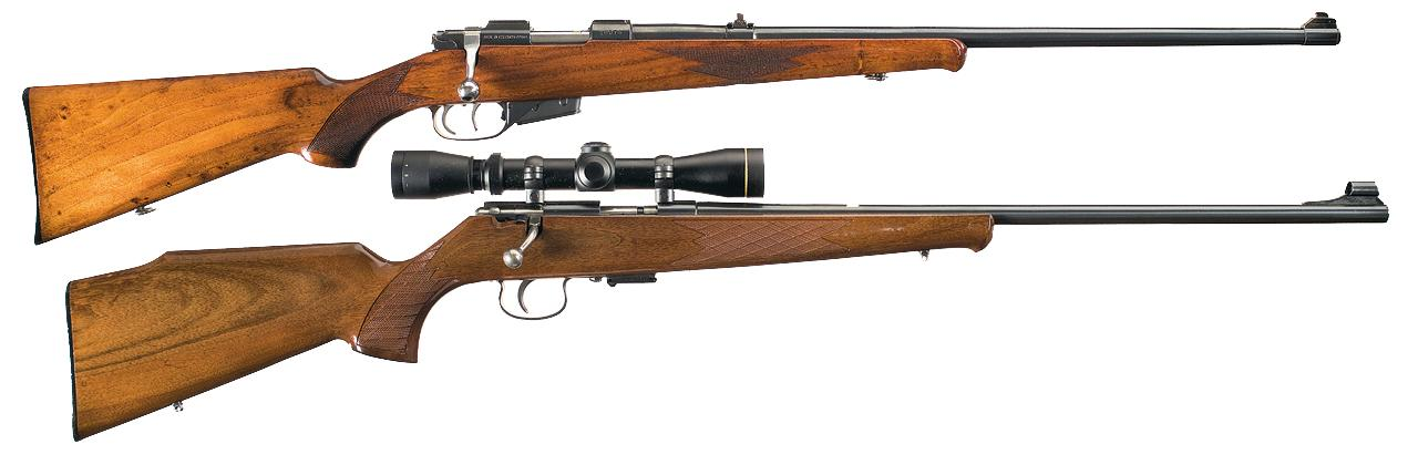 Two European Bolt Action Rifles A) Brno Arms Model ZKW 465 Bolt Action Rifle