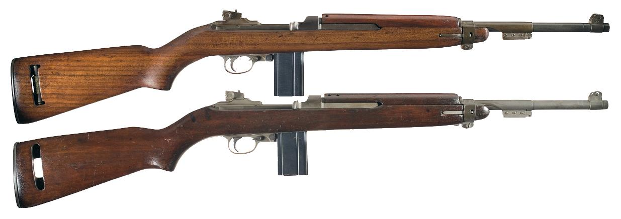 Two Us M1 Semi Automatic Carbines A Early Wwii Winchester M1