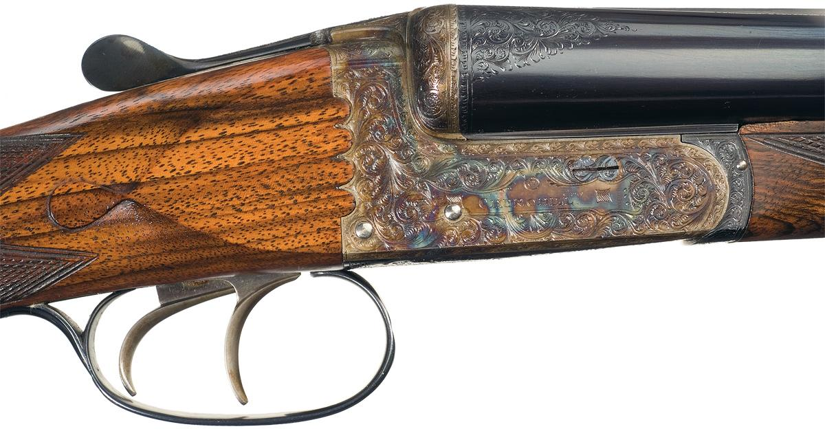 Excellent Engraved Special Order Churchill Hercules XXV Double Barrel  Hammerless Shotgun with Case