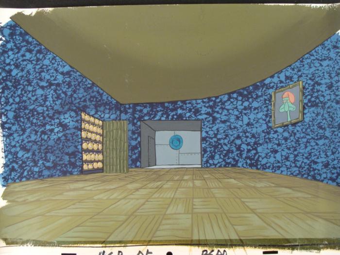 2 Spongebob Orig Animation Backgrounds Squidward Clocks