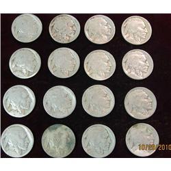 13. (15) No Date Buffalo Nickels.