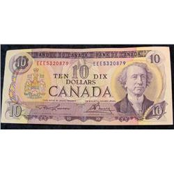 21. Series 1971 Bank of Canada $10 Note. EF 40.