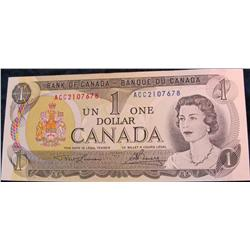 22. Series 1973 Bank of Canada $1 Note. EF 40.