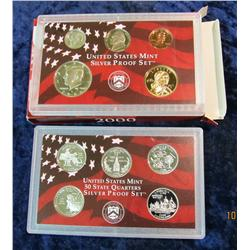 26. 2000 S U.S. Silver Proof Set.  Original as issued.