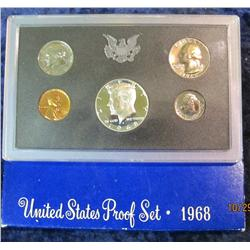 33. 1968 S U.S. Proof Set. Original as issued.