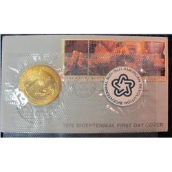 36. 1976 Bicentennial First Day Cover with Medal.