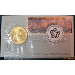 37. 1976 Bicentennial First Day Cover with Medal.