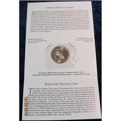 39. Republic of the Marshall Islands Space Shuttle Discovery $5 Commemorative Coin in original holde