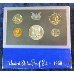 43. 1969 S U.S. Proof Set. Original as issued.