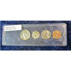 46. 1955 U.S. Proof Set missing the Franklin Half Dollar. In a clear case.