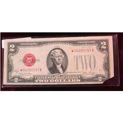 49. Series 1928G $2 U.S. Note. Star Replacement. Missing RL corner.