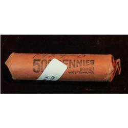 157. Solid date roll 1929 P Lincoln Cents. Fine.