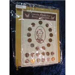 180. 1934-58 Lincoln Wheat-Ear Penny Collection in special display board.