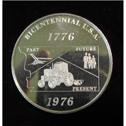 297. 1776-1976 Pottawattamie County Makers of Fire .999 Fine Silver