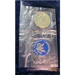 365. 1971 S Silver Eisenhower Dollar in original blue pack.