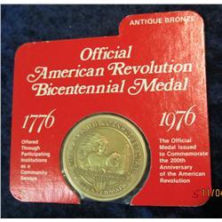 """372. 1776-1976 Official American Revolution Bicentennial Medal """"Nebraska"""