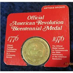 """373. 1776-1976 Official American Revolution Bicentennial Medal """"Nebraska"""