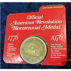 """374. 1776-1976 Official American Revolution Bicentennial Medal """"Nebraska"""