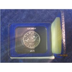378. 1972 Canada Prooflike Dollar in original velvet-lined case.