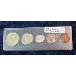 380. 1964 D U.S. Year Set in snap-tight case. Cent to Half Dollar.