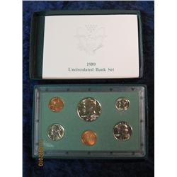 382. 1989 Philadelphia Uncirculated Bank Set. In original green holder.