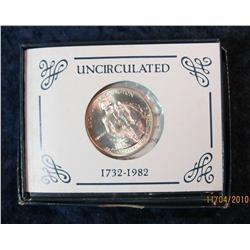 383. 1982 D George Washington Silver Brilliant Unc Commemorative