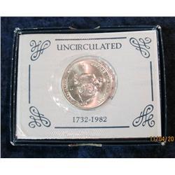 384. 1982 D George Washington Silver Brilliant Unc Commemorative