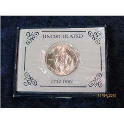 385. 1982 D George Washington Silver Brilliant Unc Commemorative