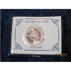 386. 1982 D George Washington Silver Brilliant Unc Commemorative