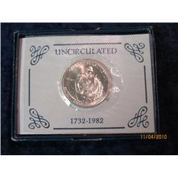 387. 1982 D George Washington Silver Brilliant Unc Commemorative