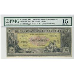 The Canadian Bank of Commerce, 1917 $20 #258522 CH-75-16-04-20a PMG CH F15.