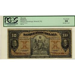 Banque d'Hochelaga,  1917 $10 #1479654, CH-360-24-08,  PCGS VG10