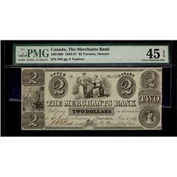 The Merchants Bank  1836-37 $2 #564 CH-450-10-06 PMG CH EF45.