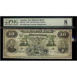 The Molsons Bank 1900 $10 #88287 CH-490-22-32 PMG VG8.