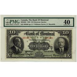 The Bank of Montreal 1923 $10 CH-505-56-04 #493465, PMG EF40.