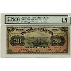 The Bank of Nova Scotia, 1929 $20 #310296, CH-550-28-22, PMG CH F15.