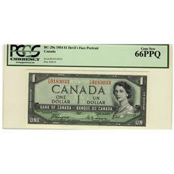 1954 $1 BC-29a F/A9183033 PCGS UNC66PPQ